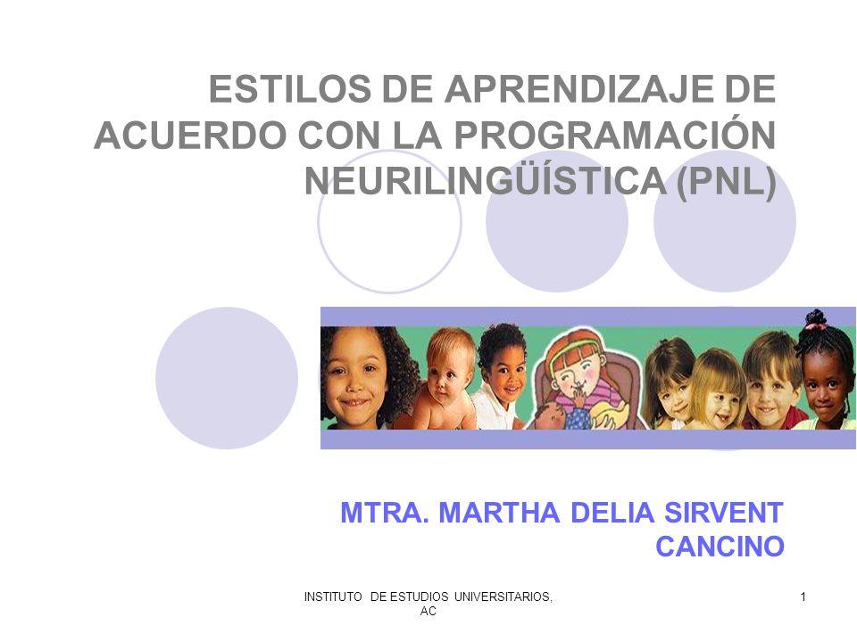 MTRA. MARTHA DELIA SIRVENT CANCINO