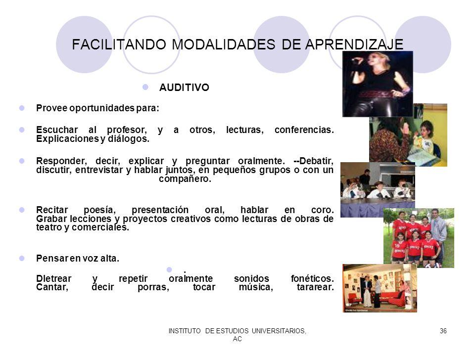 FACILITANDO MODALIDADES DE APRENDIZAJE