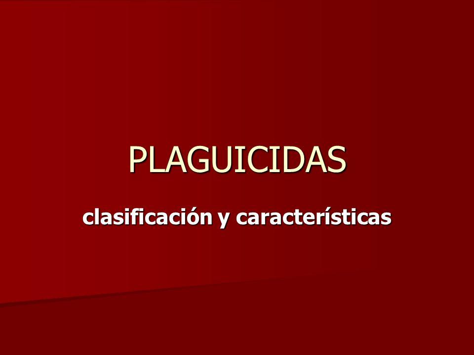 clasificación y características