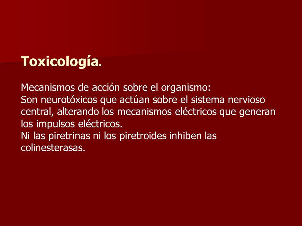 Toxicología. Mecanismos de acción sobre el organismo: