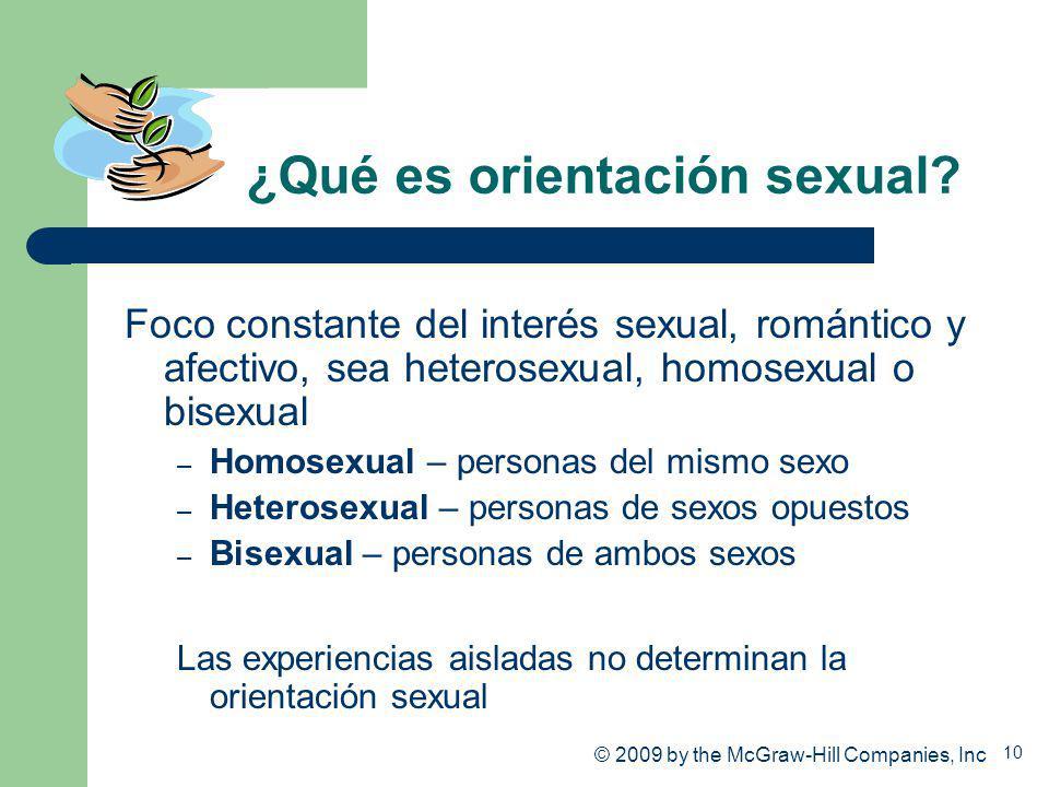 ¿Qué es orientación sexual