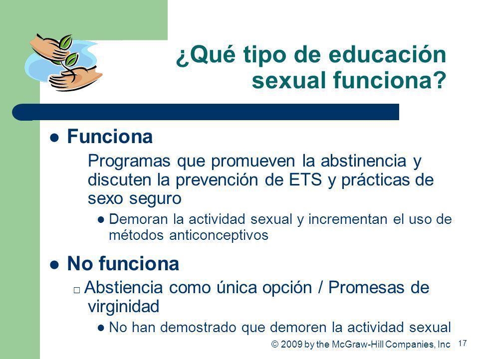 ¿Qué tipo de educación sexual funciona