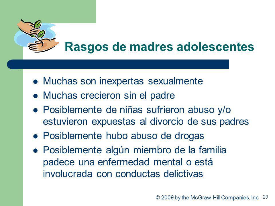 Rasgos de madres adolescentes