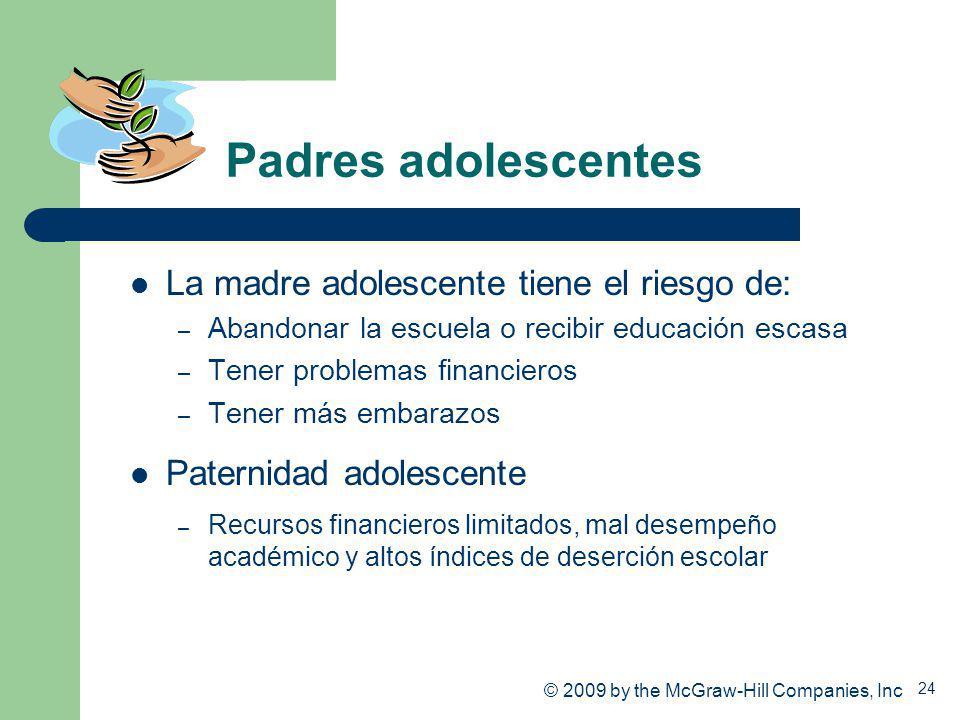 Padres adolescentes La madre adolescente tiene el riesgo de: