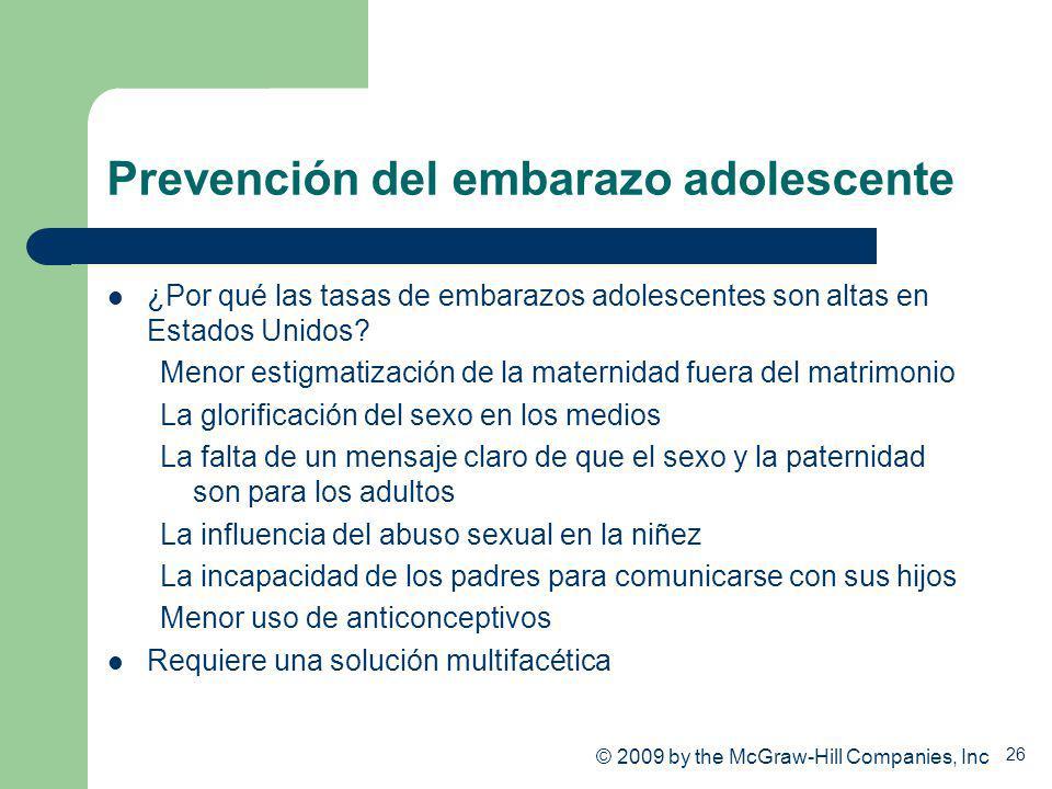 Prevención del embarazo adolescente
