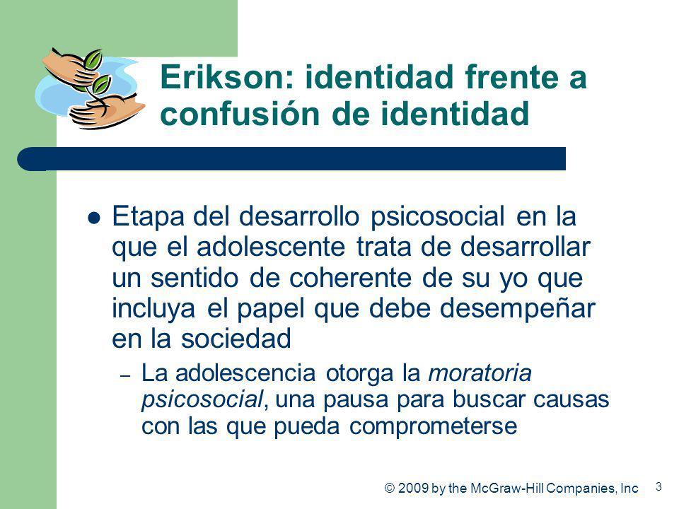 Erikson: identidad frente a confusión de identidad