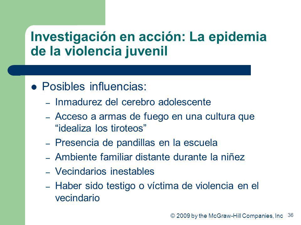 Investigación en acción: La epidemia de la violencia juvenil