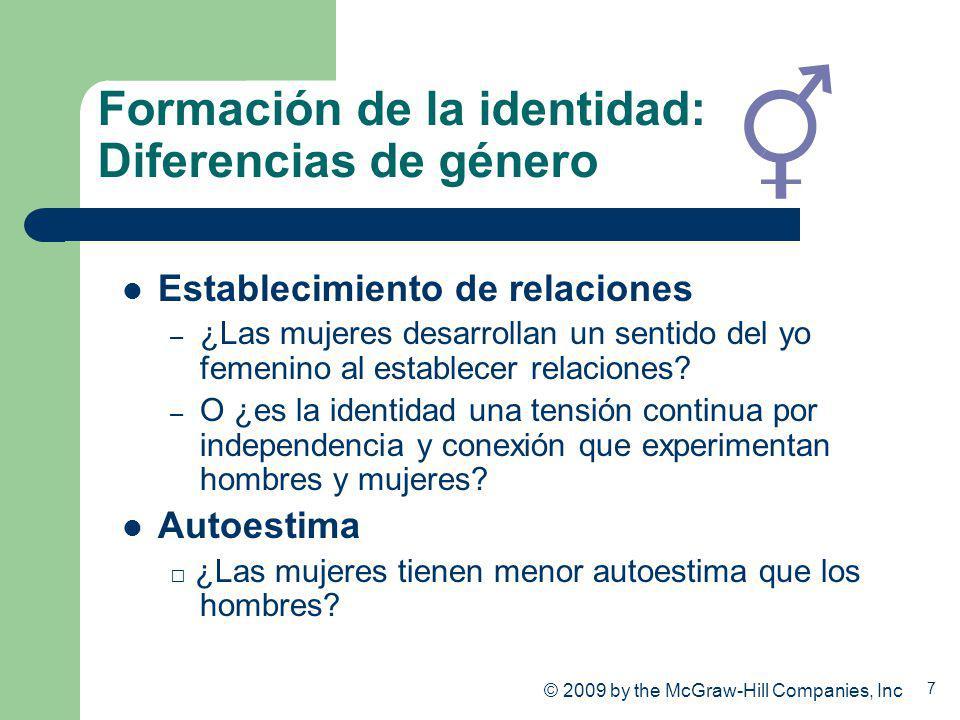 Formación de la identidad: Diferencias de género