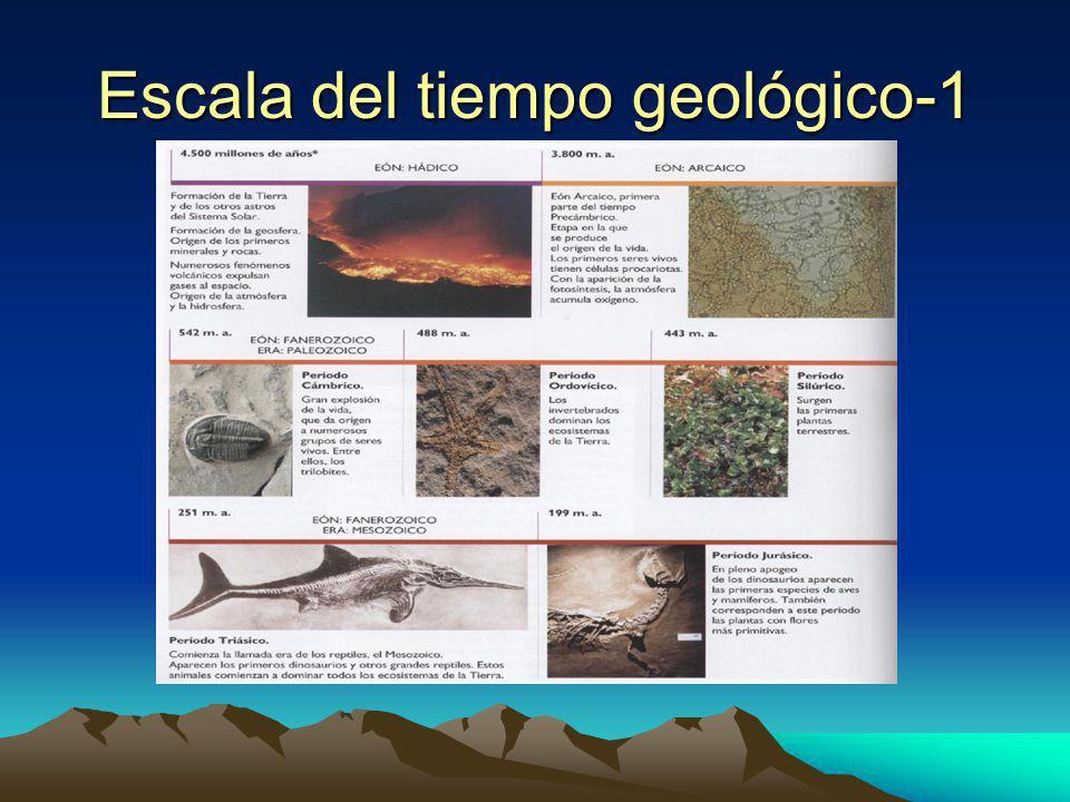 Escala del tiempo geológico-1
