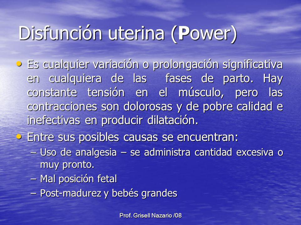 Disfunción uterina (Power)