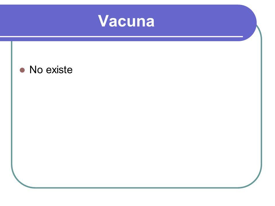 Vacuna No existe