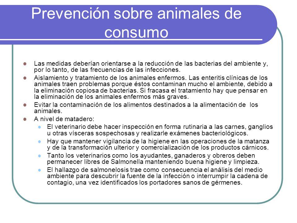 Prevención sobre animales de consumo