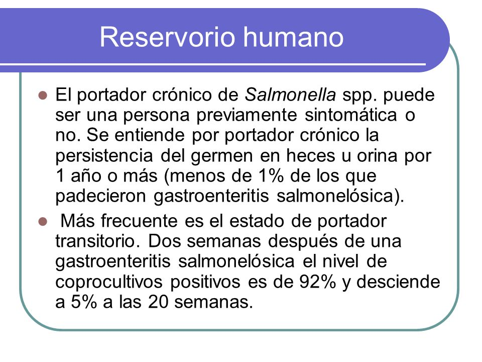 Reservorio humano