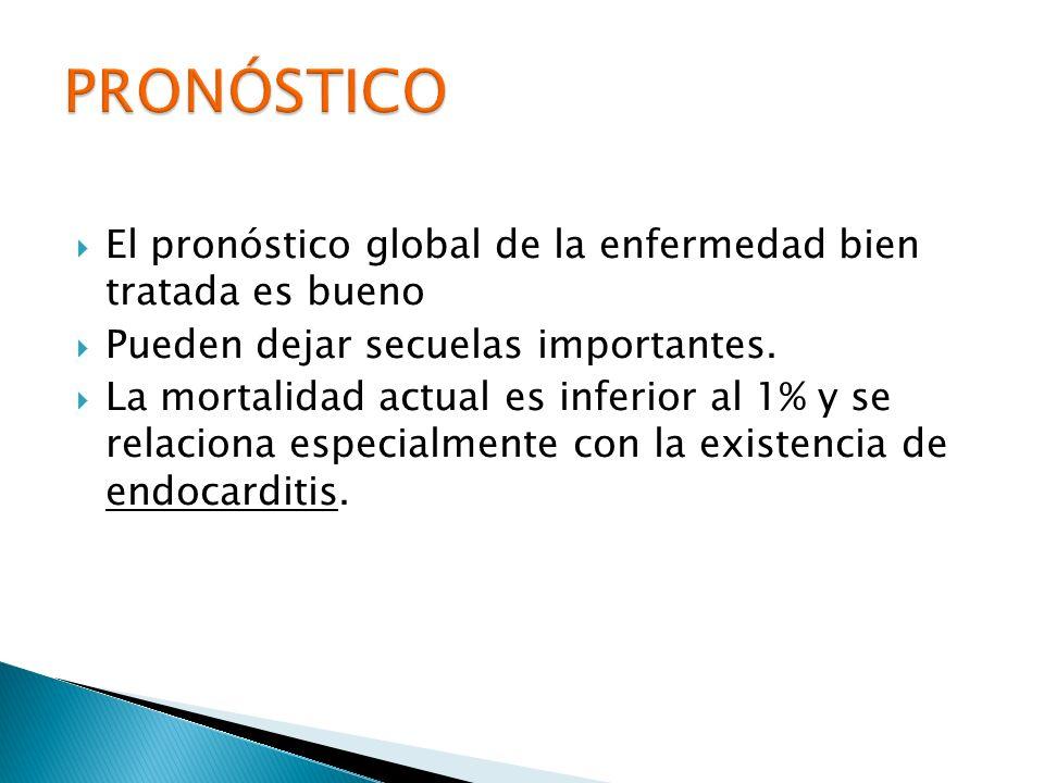 PRONÓSTICO El pronóstico global de la enfermedad bien tratada es bueno
