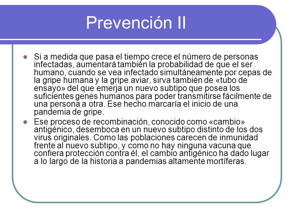 Prevención II