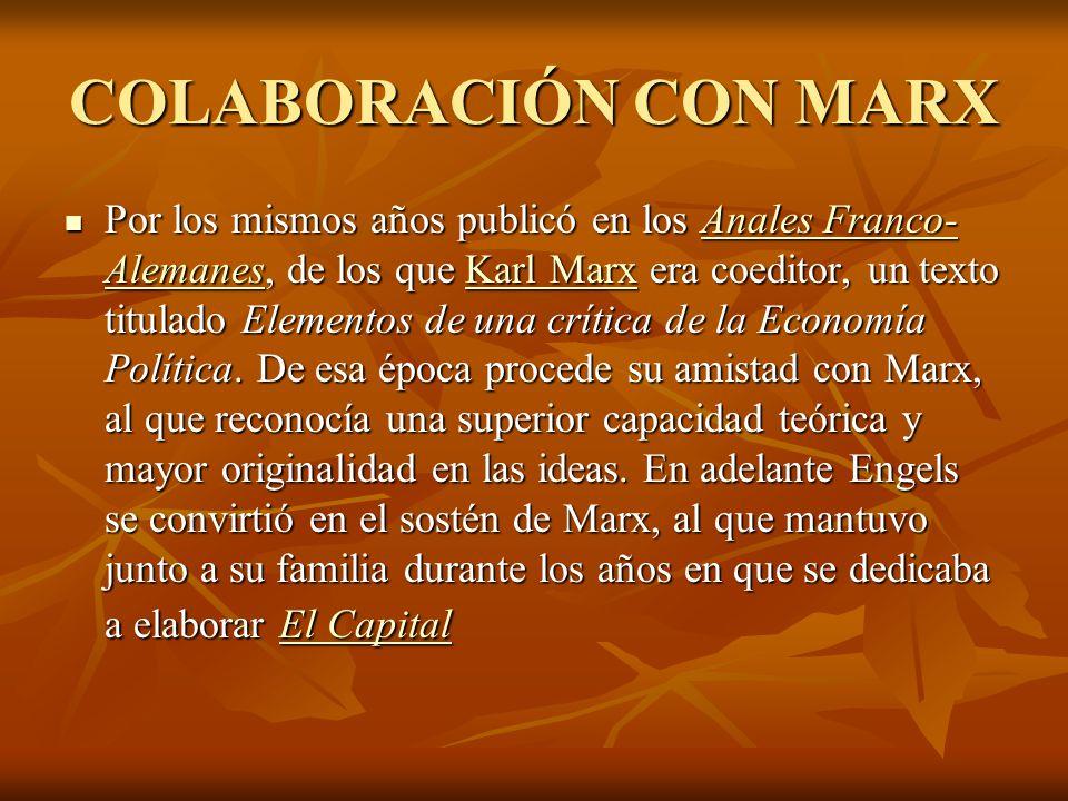 COLABORACIÓN CON MARX