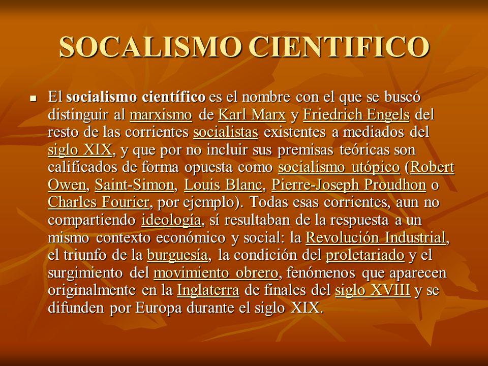 SOCALISMO CIENTIFICO