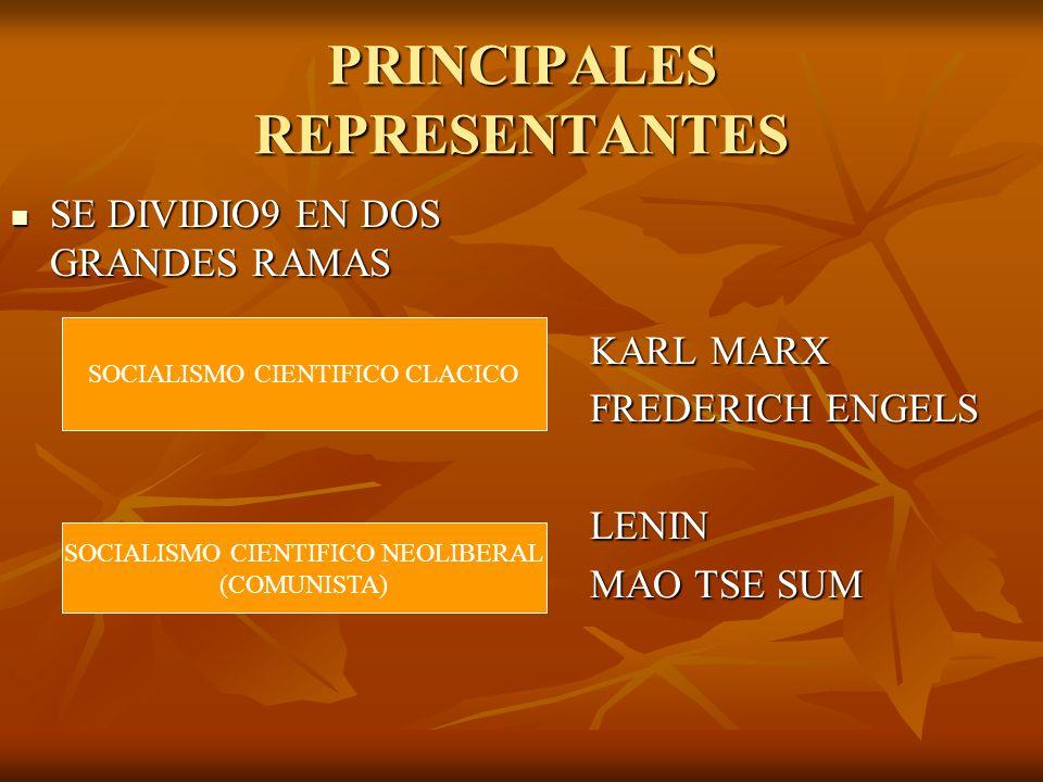 PRINCIPALES REPRESENTANTES