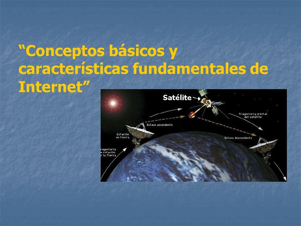 Conceptos básicos y características fundamentales de Internet