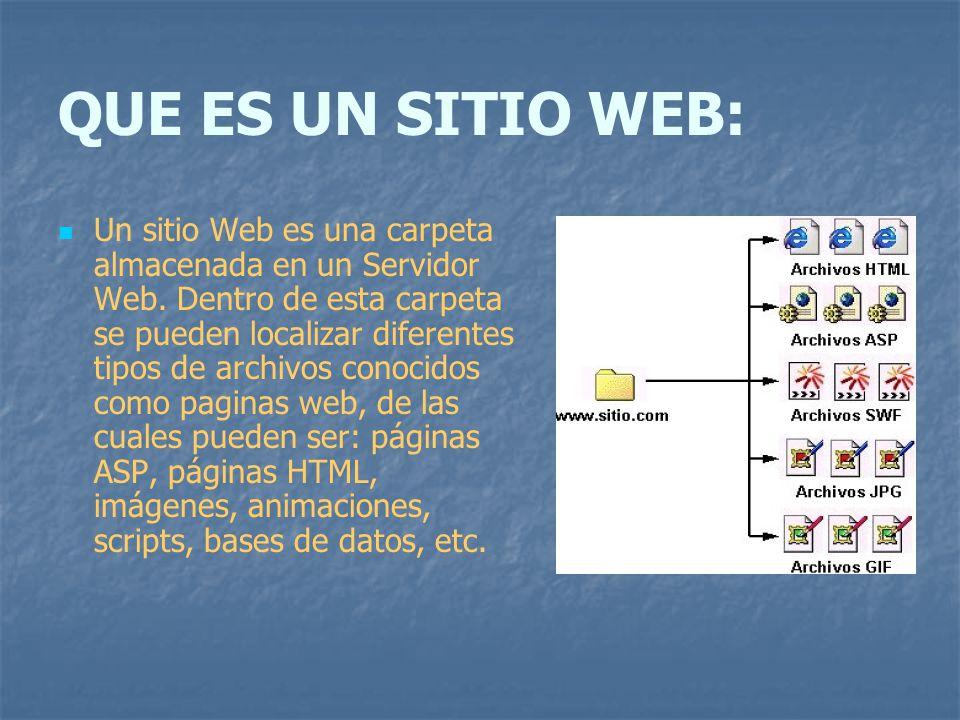 QUE ES UN SITIO WEB: