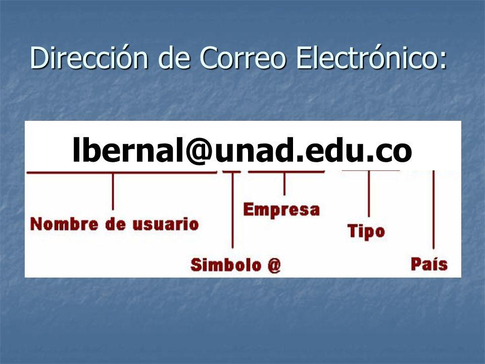 Dirección de Correo Electrónico: