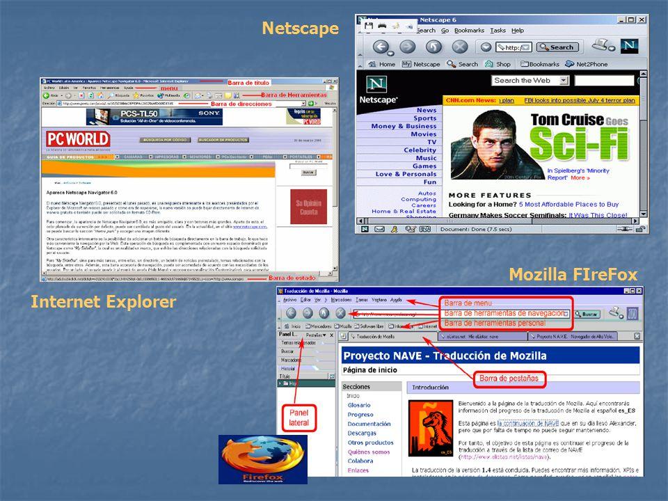 Netscape Mozilla FIreFox Internet Explorer