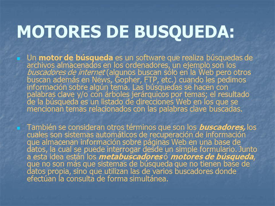 MOTORES DE BUSQUEDA: