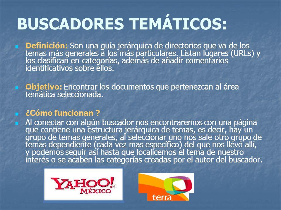 BUSCADORES TEMÁTICOS: