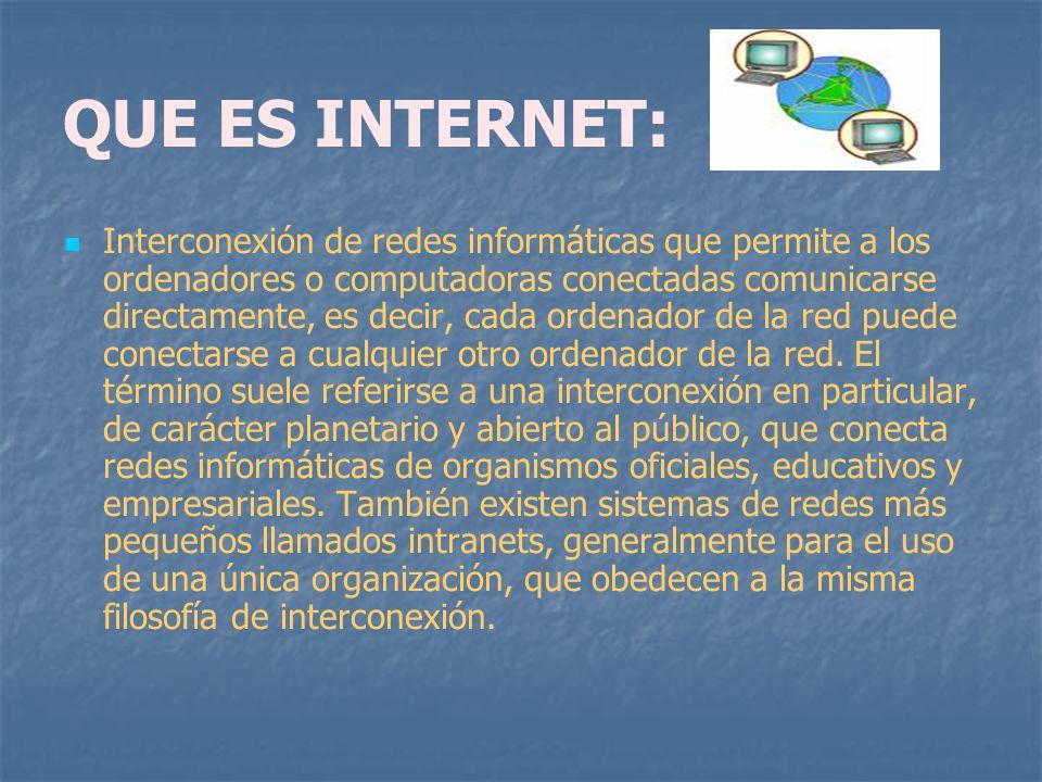 QUE ES INTERNET: