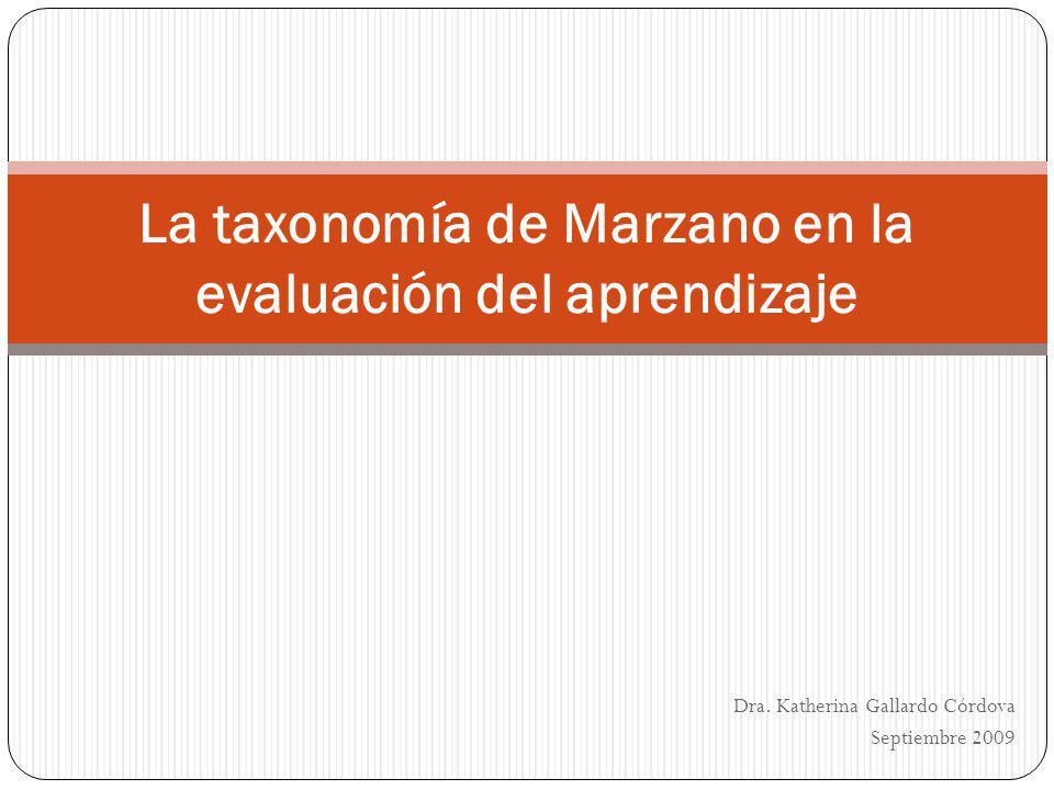 La taxonomía de Marzano en la evaluación del aprendizaje
