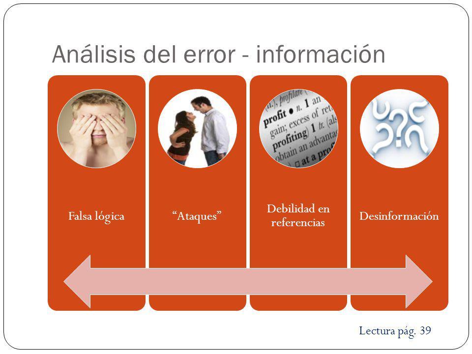 Análisis del error - información