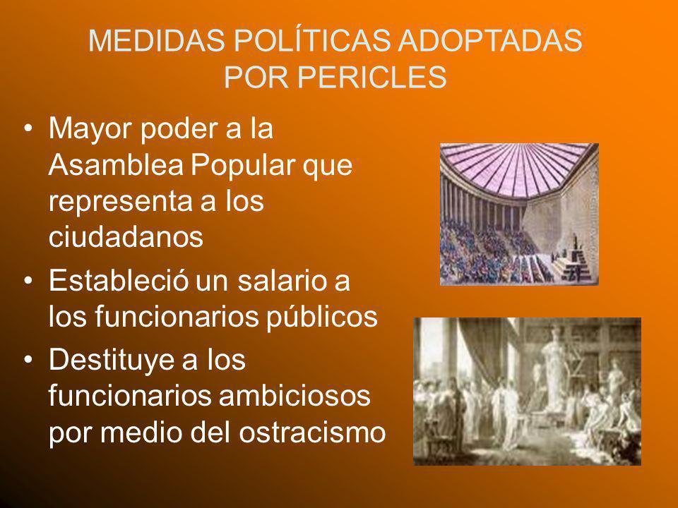 MEDIDAS POLÍTICAS ADOPTADAS POR PERICLES