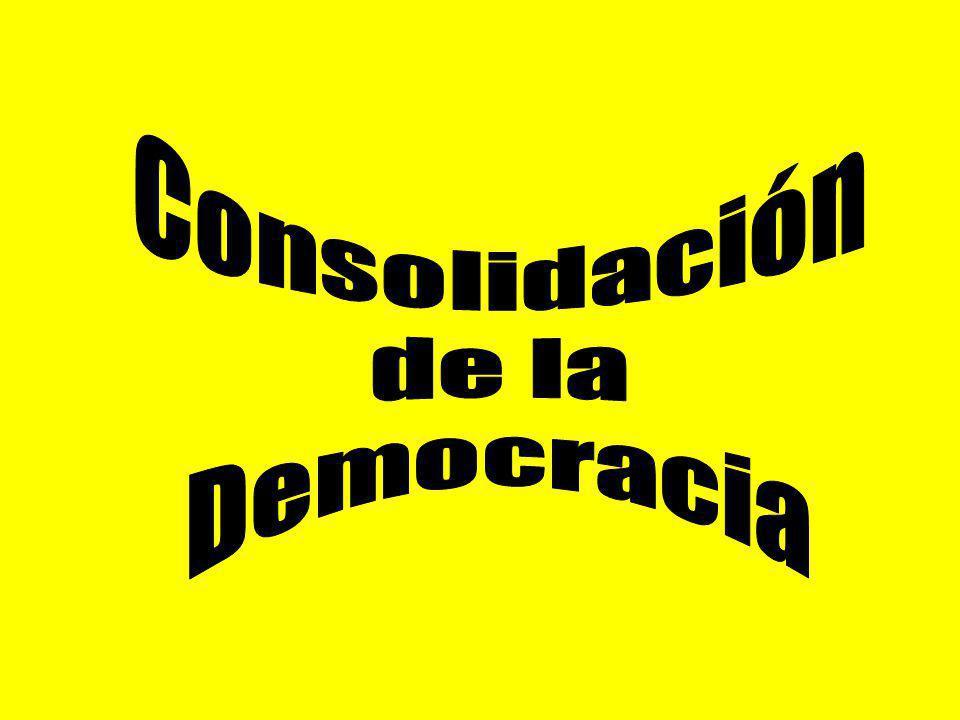 Consolidación de la Democracia