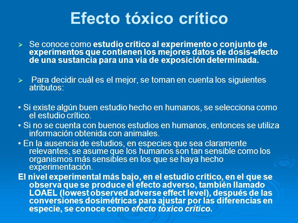 Efecto tóxico crítico