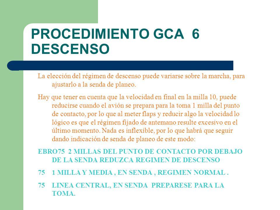 PROCEDIMIENTO GCA 6 DESCENSO