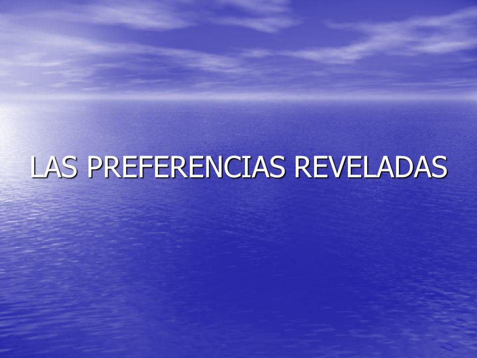 LAS PREFERENCIAS REVELADAS