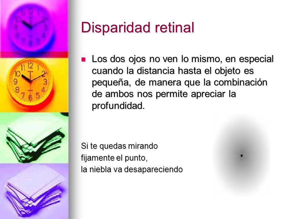 Disparidad retinal