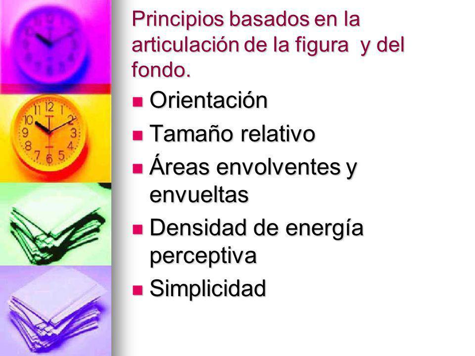 Principios basados en la articulación de la figura y del fondo.