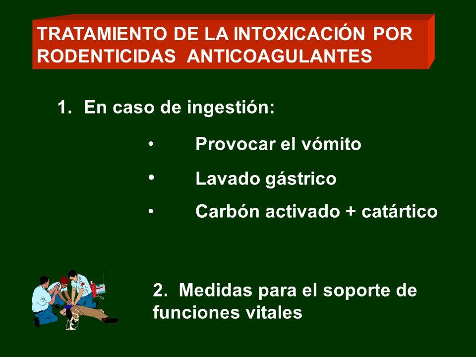 TRATAMIENTO DE LA INTOXICACIÓN POR RODENTICIDAS ANTICOAGULANTES