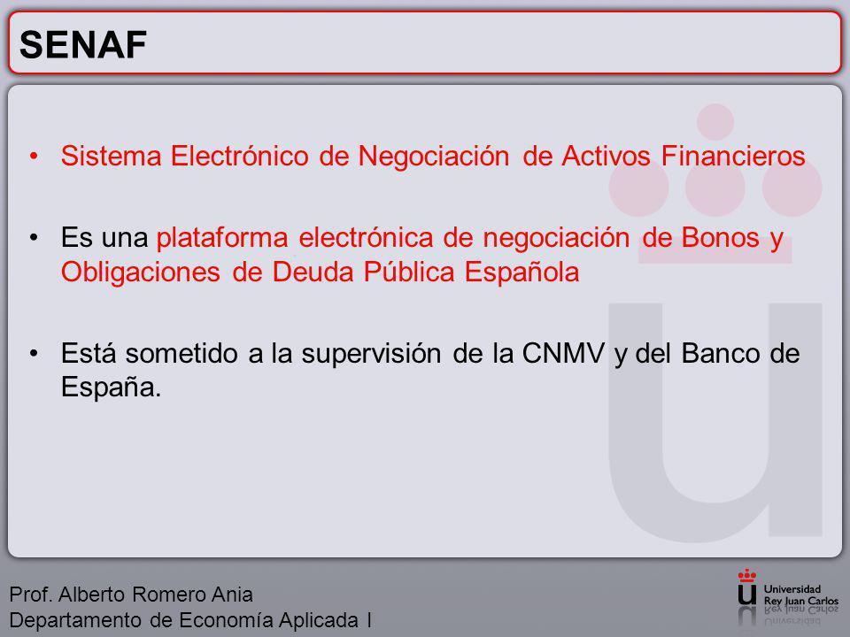 SENAF Sistema Electrónico de Negociación de Activos Financieros