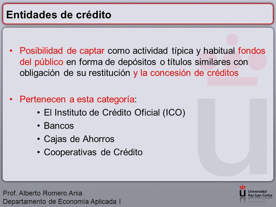 Entidades de crédito