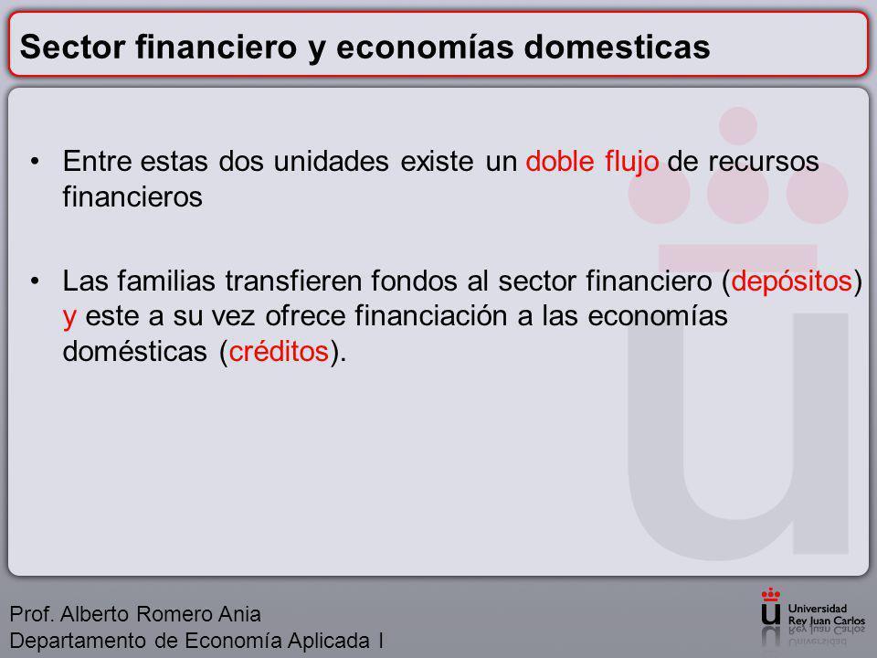Sector financiero y economías domesticas