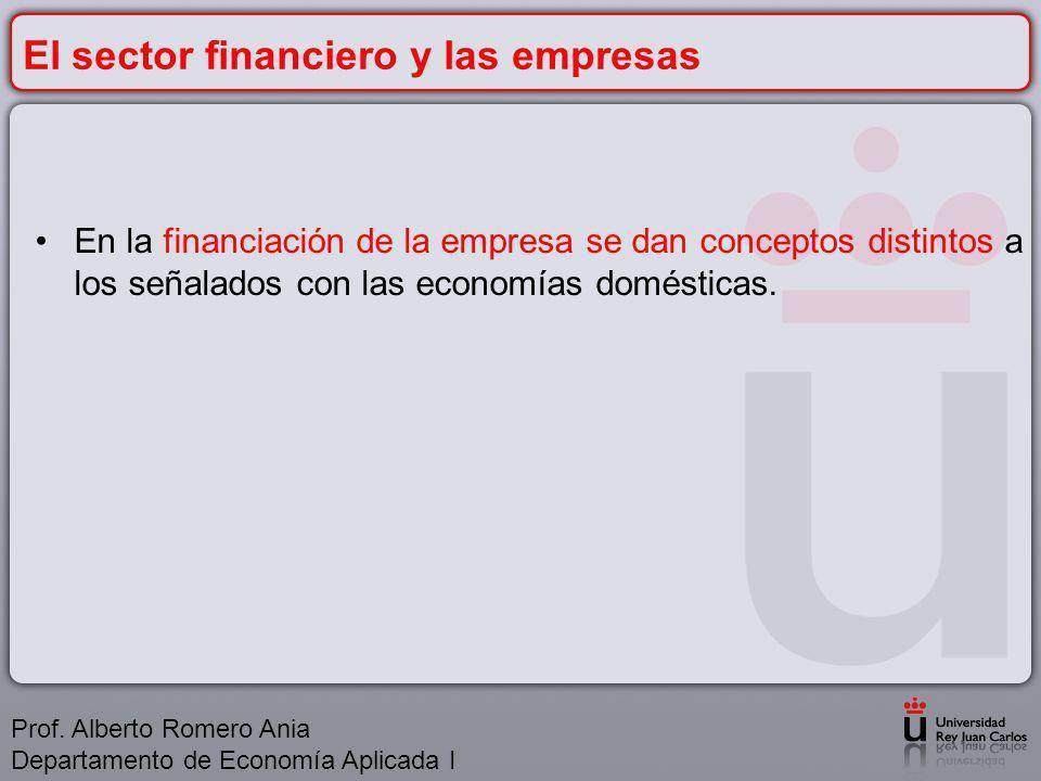 El sector financiero y las empresas