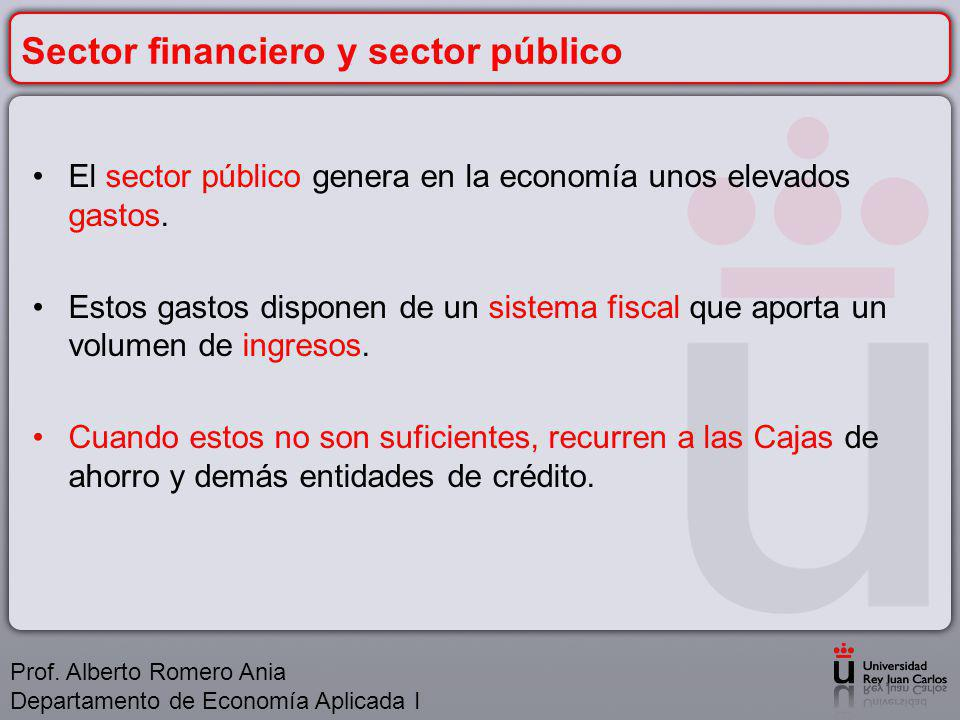 Sector financiero y sector público