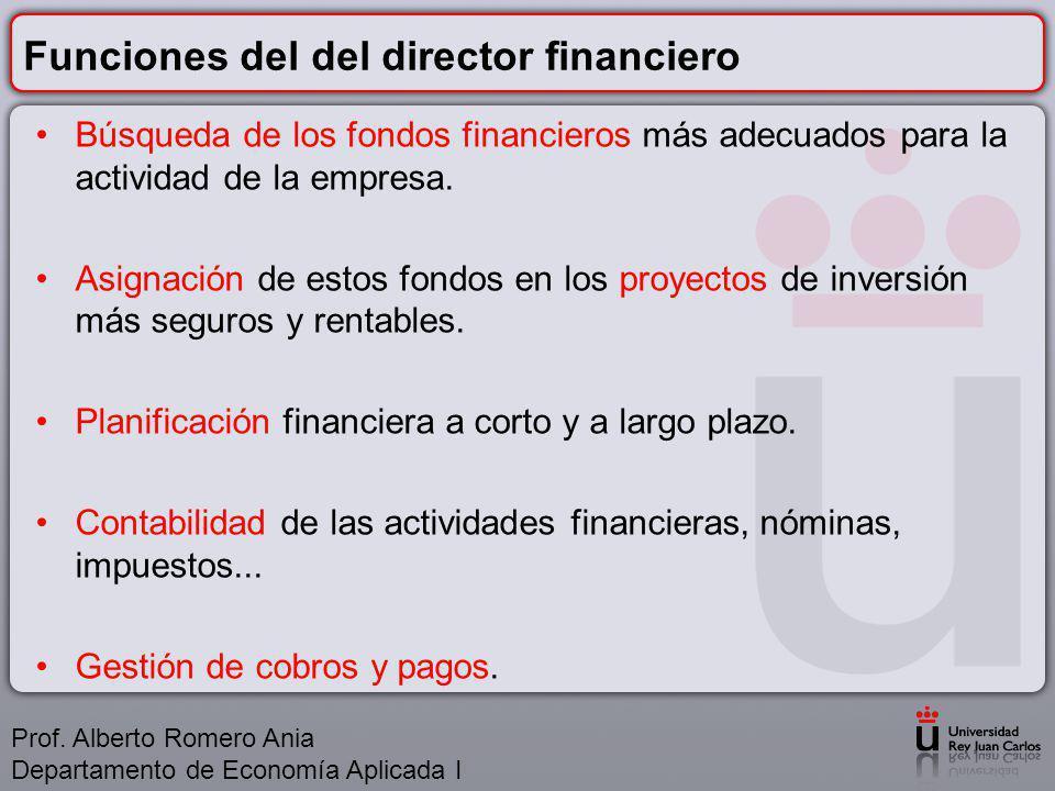 Funciones del del director financiero