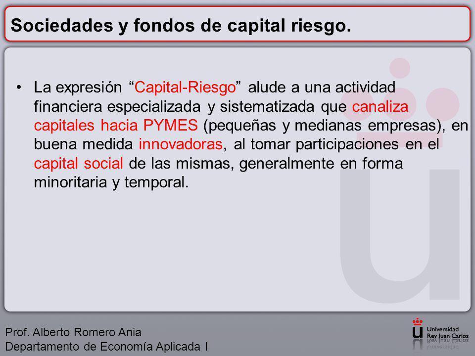 Sociedades y fondos de capital riesgo.