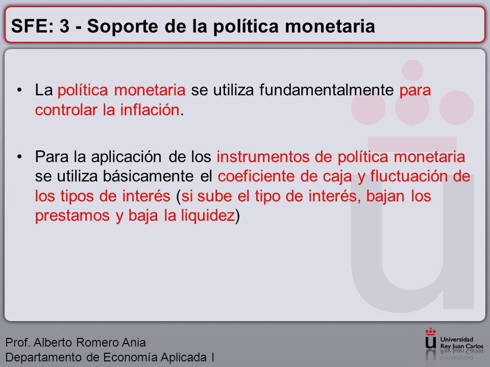 SFE: 3 - Soporte de la política monetaria