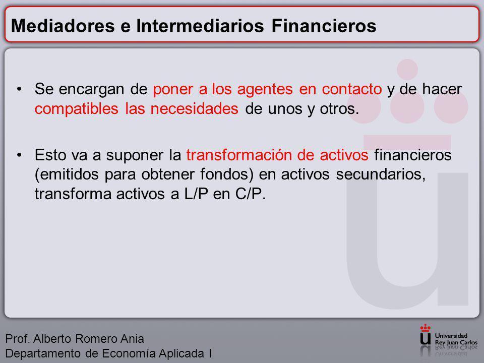 Mediadores e Intermediarios Financieros