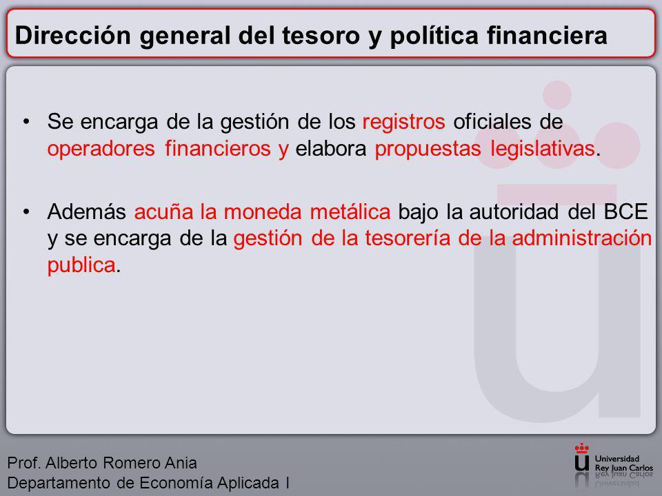 Dirección general del tesoro y política financiera