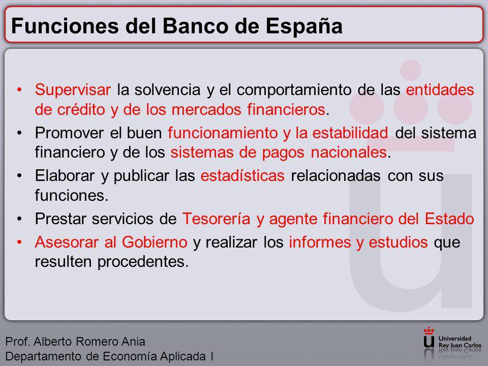 Funciones del Banco de España
